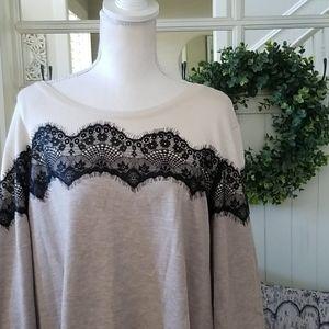 NWT! Worthington Plus Size Color Blocked Sweater